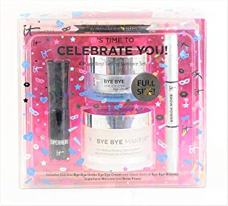 It Cosmetics It's Time To Celebrate YOU! 4-piece best selling skincare set - Bye Bye Under Eye Cream, Makeup Balm, Brow Po...