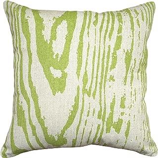 123 Creations 100-Percent Linen Graphic Faux Bois Pillow, 18