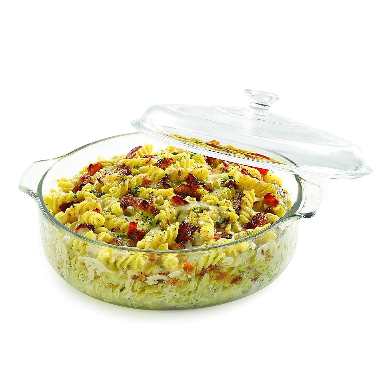 Libbey Baker's Basics Glass Casserole Dish with Cover, 3-quart