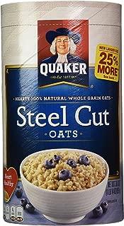 Quaker Cereal corte de acero de avena, 30 onzas, paquete de 2