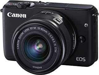 Canon ミラーレス一眼カメラ EOS M10 レンズキット(ブラック) EF-M15-45mm F3.5-6.3 IS STM 付属 EOSM10BK-1545ISSTMLK