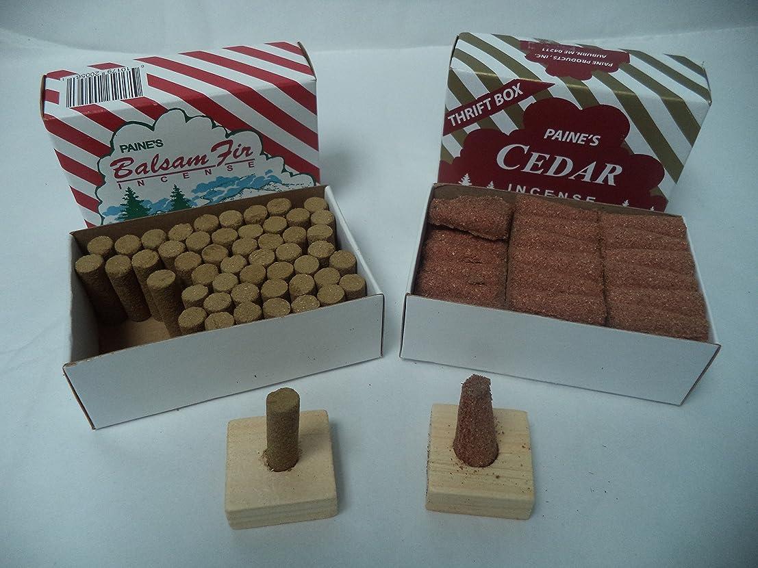 名前を作る晴れ幻滅するPaine 's Balsam Fir 50?Sticks + Red Cedar Cones 50?Cones : 100クリスマスIncence