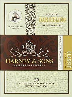 Harney & Sons Black Tea, Darjeeling, 20 Sachets (Pack of 6)