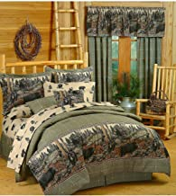 Blue Ridge Trading Unisex Bears Full Comforter Set Black One Size