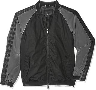 Armani Exchange Men's 3GZB01 Blouson Jacket, Multicolour (Black W/magnet 4237), X-Large
