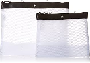 Victorinox Set of Two Spill-Resistant Pouches, Black/Black Logo, One Size