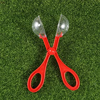 TOYANDONA 6pcs Plastic Bug Catcher Scissors Handy Scoopers Insects Catch Bug Tongs Clamp Toys Scissors for Children Kids Toddler 4PCS Red