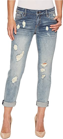 KUT from the Kloth - Catherine Boyfriend Wide Cuff Jeans in Characterized