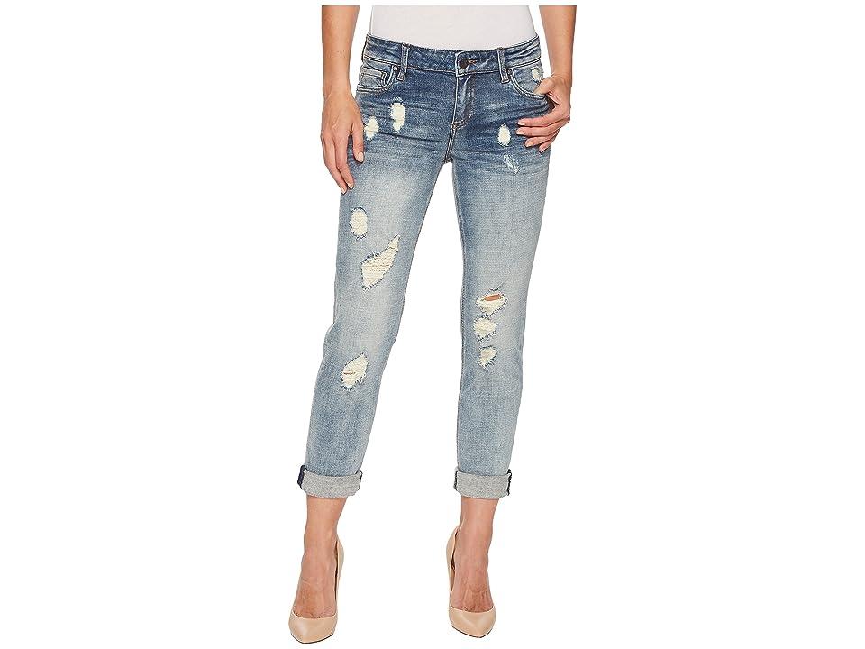 KUT from the Kloth Catherine Boyfriend Wide Cuff Jeans in Characterized (Characterized/Light Base Wash) Women