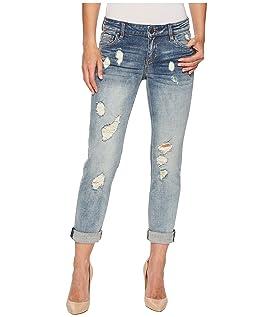 Catherine Boyfriend Wide Cuff Jeans in Characterized