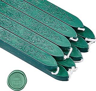 craspire 20 pièces Bâtons de Cire à Cacheter Vintage avec Mèches Cire à Cacheter Manuscrit Antique pour Cire Sceau Timbre ...