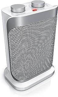 Brandson - Calefactor cerámicos con 2 Niveles de Potencia + Termostato | 1500 W Triple Protección | Función Ventilador | Silencioso (47 dBA) | Certificado GS