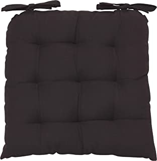 Now Designs Renew Collection Padded Chair Cushion, Black