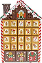 Clever Creations Gingerbread House Advent Calendar - Bright LED Christmas Lights - Premium Christmas Decor - Cute Holiday Decorations - Solid Wood Construction - 10.25 in x 2 in x 16 in