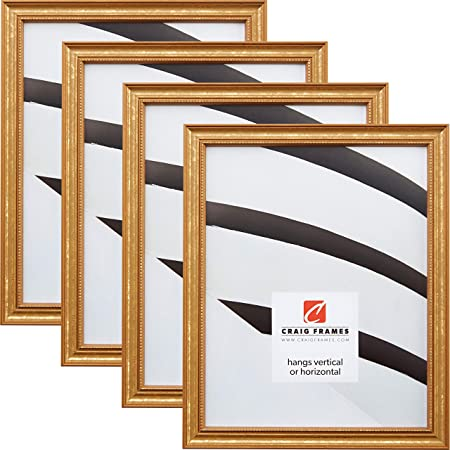 Craig Frames 14x18 Inch Aged Gold Picture Frame Arcadia Gothic 3.125 Wide 73721418