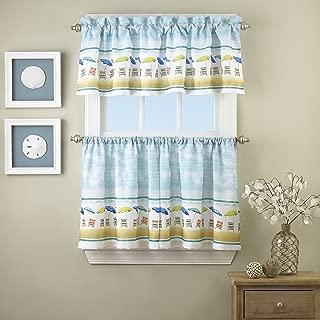 LORRAINE HOME FASHIONS St. Tropez Window Curtain Tier Pair, 60