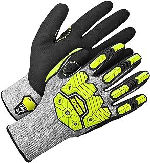 Bob Dale Gloves 99197909 Seamless Knit HPPE Cut Level 5 W/Hi-Viz Yellow Impact Prote,