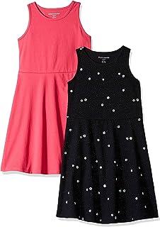 Amazon Essentials - Pack de 2 vestidos sin mangas para niña