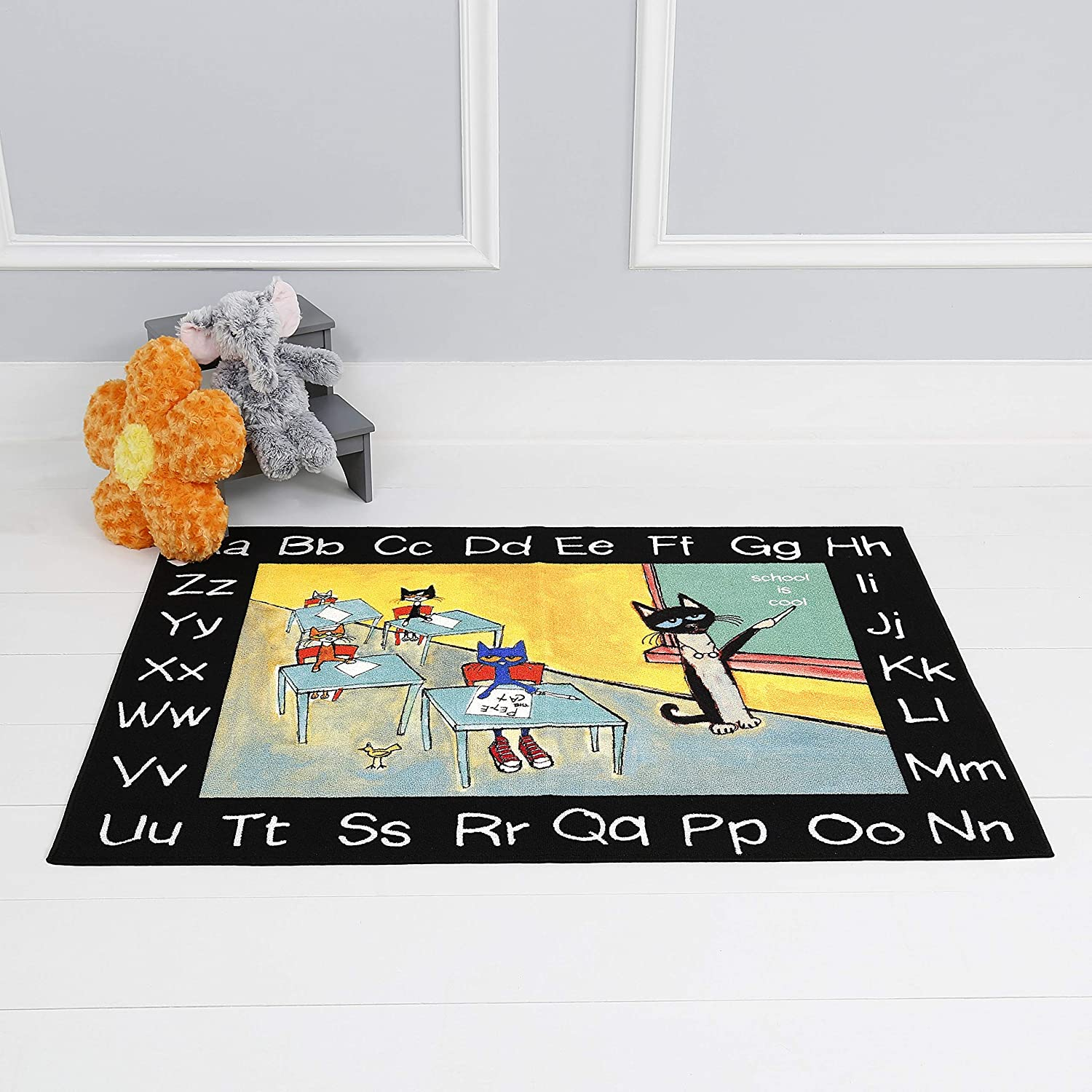 Home Max 89% OFF Dynamix Alphabet Pete Rug Yello Max 87% OFF 6'6