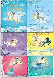 Fairy Unicorns Collection 6 Books Set by Zanna Davidson (Star Spell, Frost Fair, Enchanted River, Wind Charm, Cloud Castl...