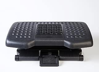 BNC Premium Ergonomic Adjustable Angle Foot Rest F6048-45.6cmX34cmX11cm - Black Color