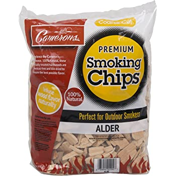 Camerons Products Alder Wood Smoker Chips ~ (2lb. Coarse), 260 cu. in. - 100% All Natural, Coarse Wood Smoking and Barbecue Chips