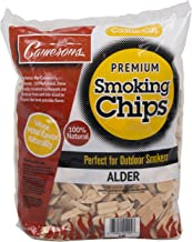 Camerons Products Alder Wood Smoker Chips 260 cu. in. (0.004m�) - (2lb. Coarse) - 100% All Natural, Coarse Wood Smoking and Barbecue Chips