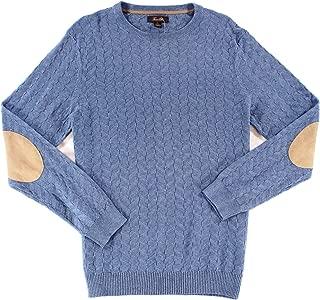Tasso Elba Mens Chevron Shadow Long Sleeve Sweater