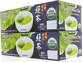 Pack 2, Organic Japanese Green Tea, A Blend of Sencha & Matcha 200 bags 0.05 Oz/1.5g per bag by Kirkland Signature