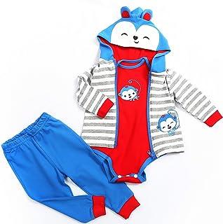 OMJDOLL Newborn Reborn Baby Dolls Clothes Boy for 17-19 Inch Reborn Doll Outfit Blue Monkey Style