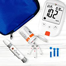 O'WELL Blood Glucose Monitoring System | Starter Kit + 100 Refills | Tyson HT100 Meter, 100 Test Strips, 100 Lancets, Lancing Device, Control Solution, Log Book, Manuals and Carry Case
