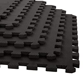 Stalwart Foam Mat Floor Tiles, Interlocking EVA Foam Padding Soft Flooring for Exercising, Yoga, Camping, Kids, Babies, Pl...