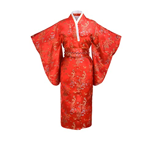 9d7d6468a9061 Joy Bridalc Women s Kimono Robe Japanese Traditional Brocade Cosplay Costume