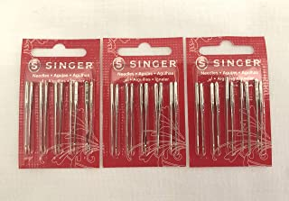Singer Sewing Machine Needles 2020 Red Band Size 14/90 (30 Count)