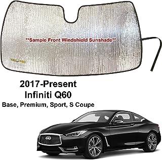 For Infiniti Q60 Coupe 14-16 Custom Heat Shield Windshield Sun Visor SunShade