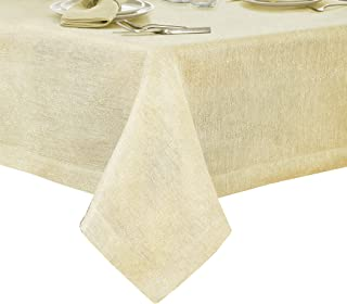 Villeroy and Boch La Classica Luxury Metallic Linen Fabric Tablecloth, 70