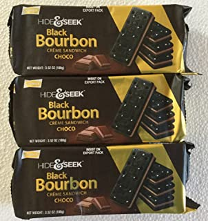 Parle Hide & Seek Black Bourbon Choco Creme Sandwich - 100 Grams (Pack of 3)