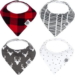 Parker Baby Bandana Drool Bibs – 4 Pack Baby Bibs for Boys, Girls, Unisex -Lumberjack Set