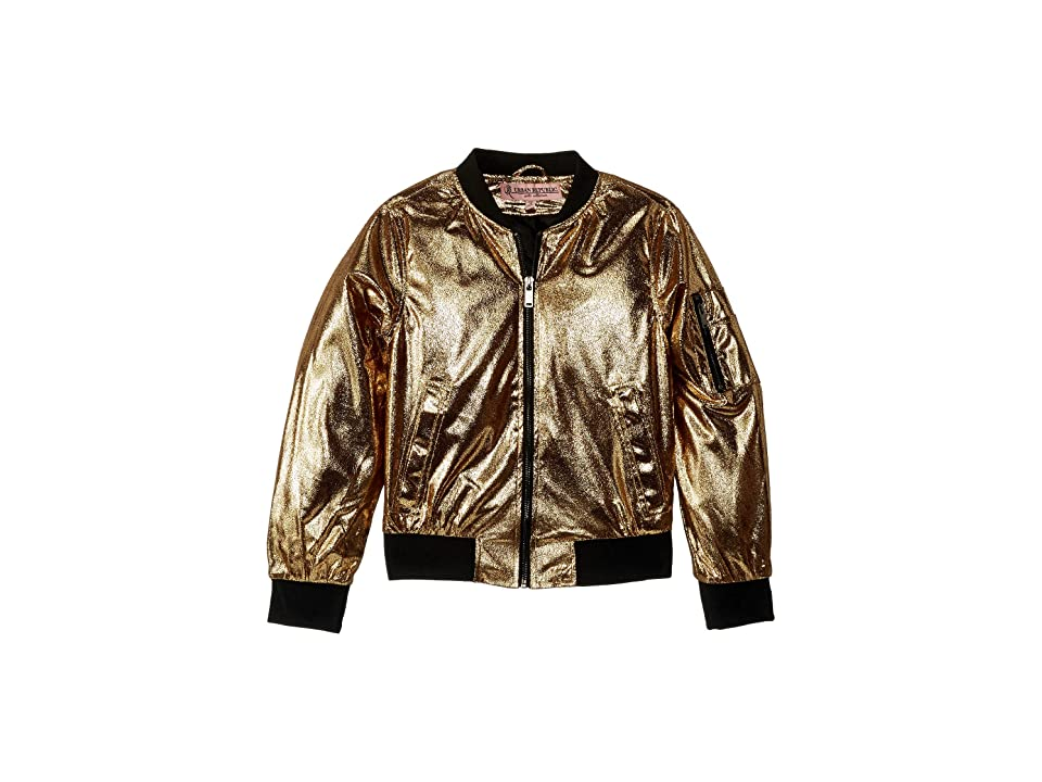 Urban Republic Kids Ziggy Metallic Bomber Jacket (Little Kids/Big Kids) (Gold) Girl