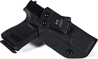 KOBRA Products IWB Holster for Glock 19, Glock 19 Holster fits 19X 23 & 32, Made in USA Kydex IWB Glock Holster, Kydex Glock Concealed Carry Inside Waistband Holster with Adjustable Cant