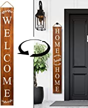Tall Outdoor Welcome Sign for Porch – 2 Sided 5 ft Vertical Welcome Sign for Front..
