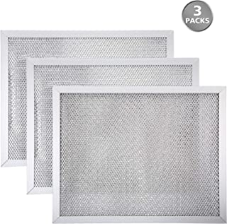 3 Pack Range Hood Filter Aluminum Range Hood Grease Filter Compatible with Broan BPS1FA30 Hood Vent Filter, 11-7/8 x 14-11/32 x 3/8 Inch