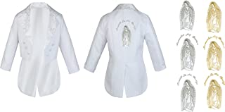 Baby Boy Kid Christening Baptism White Suit Tail Jacket Virgin Mary Maria Sm-20