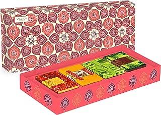 Royal Indian Herb Collection - 4 Premium Herbal Handmade Bar Soap in Gift Box Set - 4 X 75 gms - 10.6 Ounces - Vaadi Herbals