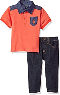 Baby Boys' Polo Shirt and Pant Set
