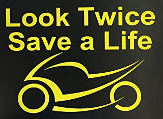 C60205 (Yellow) Look Twice Save a Life 5.5x7.5