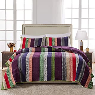 Greenland Home Marley Quilt Set, Full/Queen, Carnival