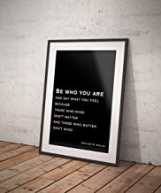 Arvier Be Who You are Life Quote Black and White Art Motivation Quote Inspirational Print for Home Decor Bernard M Baruch Framed Wall Art