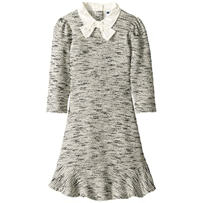 Janie and Jack Boucle Collared Dress (Toddler/Little Kids/Big Kids) (Grey) Girl