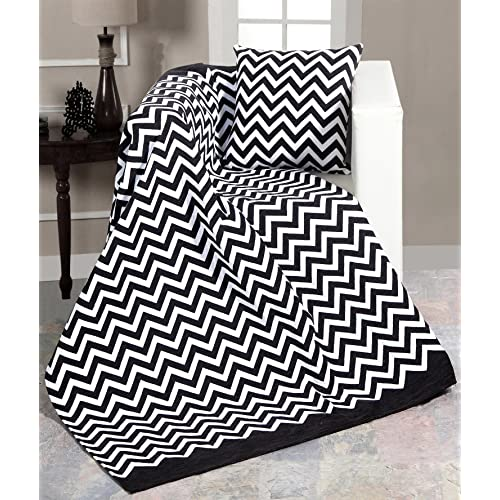 Superb Black And White Blanket Amazon Co Uk Machost Co Dining Chair Design Ideas Machostcouk
